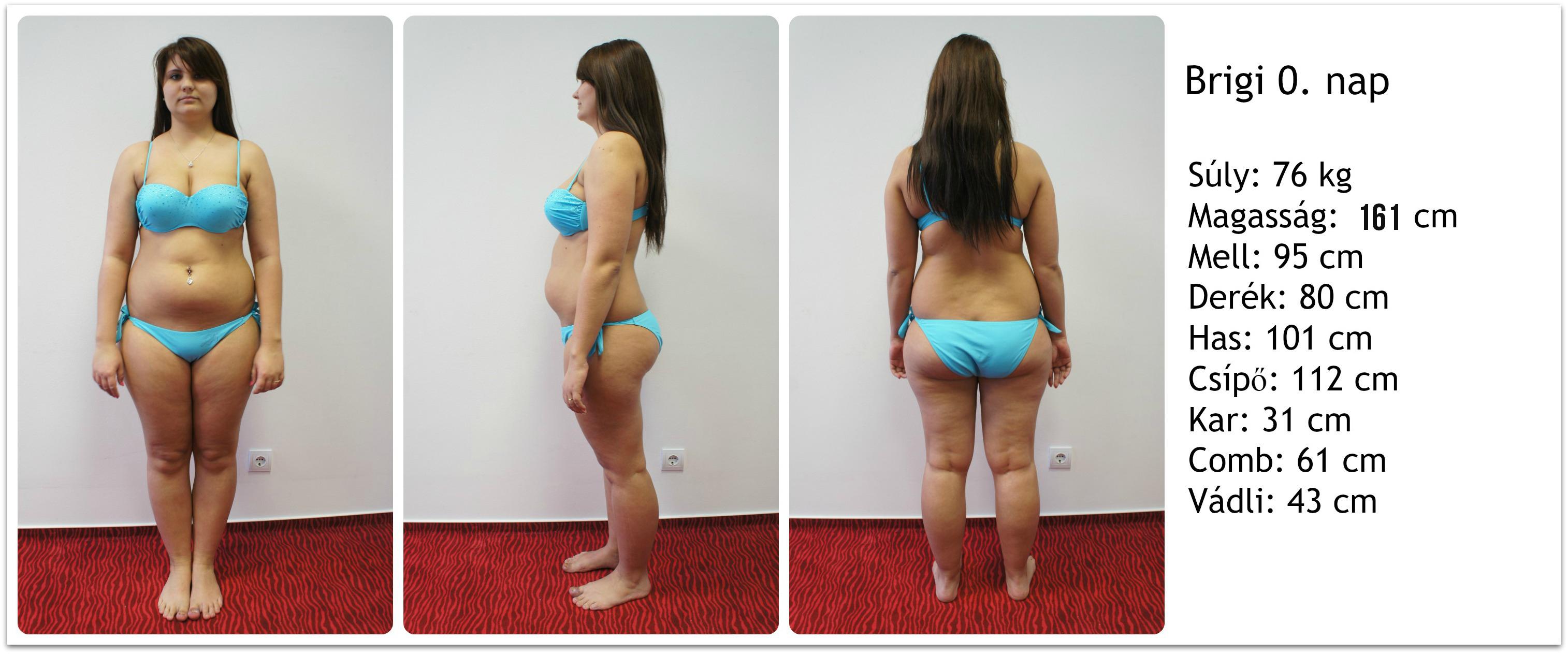 fogyás előtt bikini képek és után